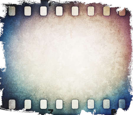 old film: Colorful film strip background. Stock Photo