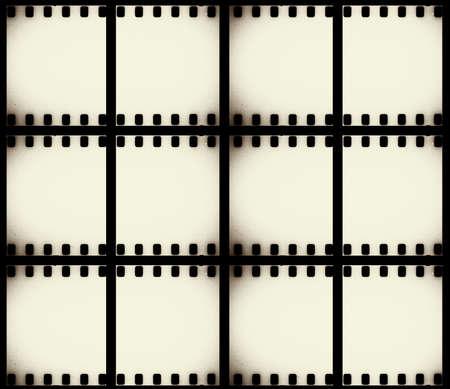 gray strip: scratched film strip background