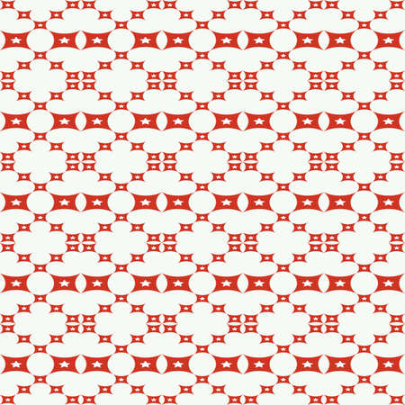 illsutration: Seamless pattern with squares, stars shapes  Vector illsutration
