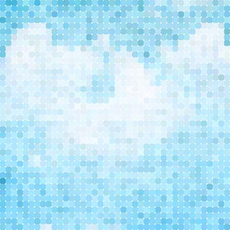 himmel wolken: Blaue Wolken und Himmel Natur-Mosaik-Hintergrund Illustration