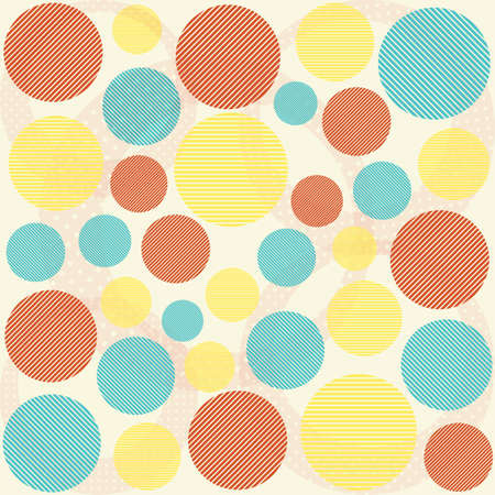 Vector fabric texture, pattern from circle  Colorful background Vector