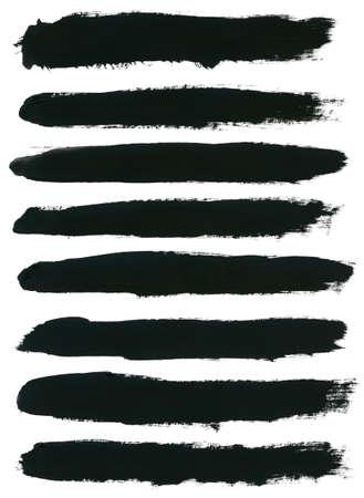 Conjunto de la acuarela mano pinceladas de pintura son aislados en un fondo blanco. Foto de archivo - 31074732