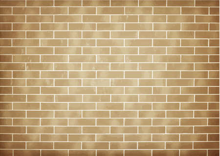 wall cell: Brick brown vector wall background