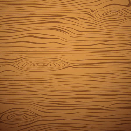 Brown wooden plank, cutting board, floor or table surface. Vector illustration Vector