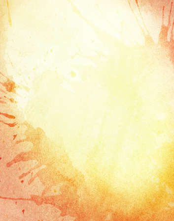 sumer: Abstract light orange watercolor background with copy space and splashes.