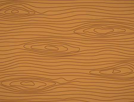 Brown wooden plank, cutting board, floor or table surface. Vector illustration Ilustracja