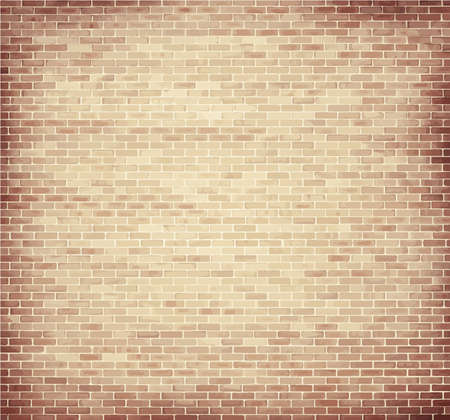 brick: Light brown brick wall texture with copy space