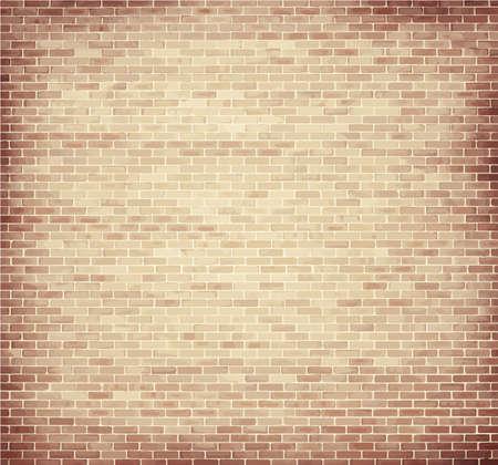 ladrillo: Textura de la pared de ladrillo de color marr�n claro, con copia espacio