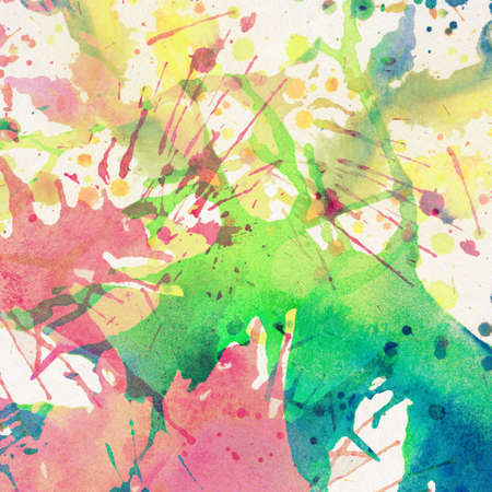 wallpaper vibrant: Abstract colorful painted watercolor splash, stain background.