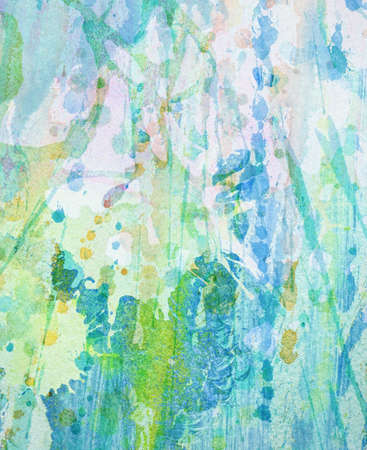 ink painting: Abstract colorful painted watercolor splash, stain background.