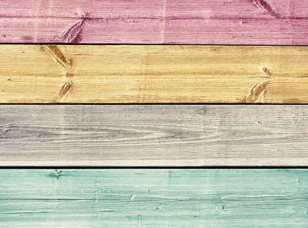 painted wood: Colorful painted wooden planks texture, table or floor surface Stock Photo