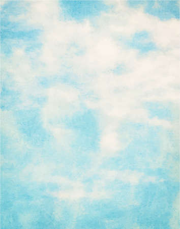 backgroud: Blue watercolor clouds and sky. Nature backgroud.