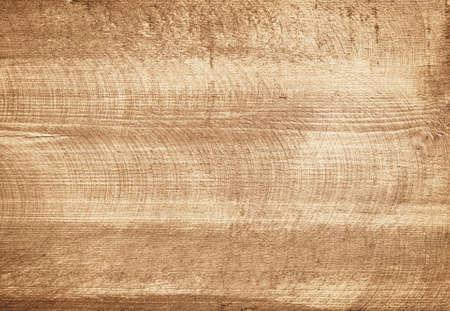 Brown scratched wooden cutting board. Standard-Bild