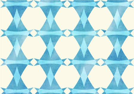 lozenge: Blue triangle, lozenge watercolor pattern.
