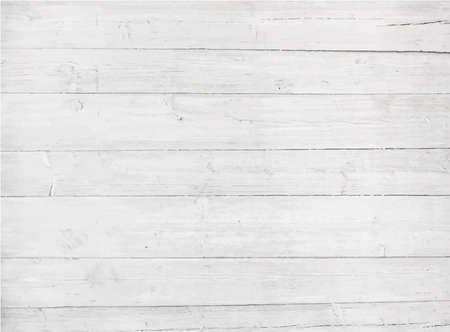 White, grey wooden wall texture, old painted pine planks Ilustracja