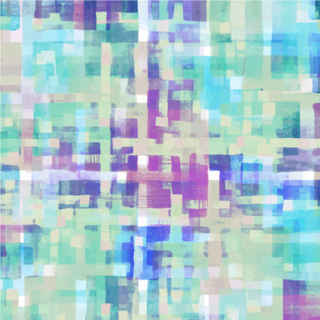 Pattern of colorful abstract watercolor geometric background. Vector