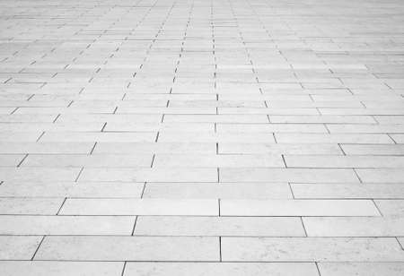 suolo: Pietra mattone grigia strada strada. Marciapiede luce, consistenza marciapiede Archivio Fotografico