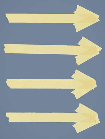 Set of arrows made of adhesive type. Vectoe illustration