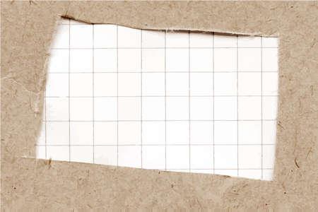 cartone strappato: Trama di cartone violento con carta a quadretti.