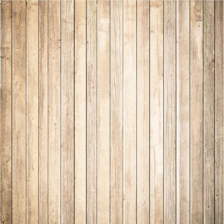 timber cutting: Light wooden texture with vertical planks. Vector floor surface