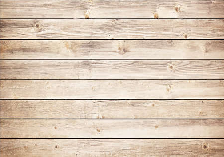 Light wooden texture with horizontal planks. Vector floor surface