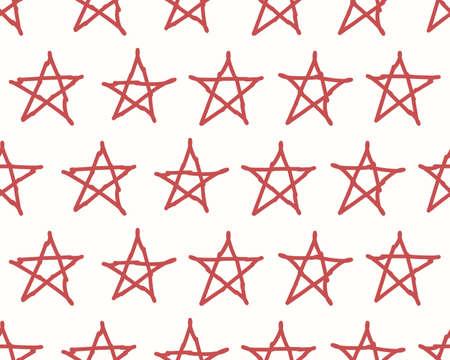 backdrop: Red stars textile backdrop.  Illustration