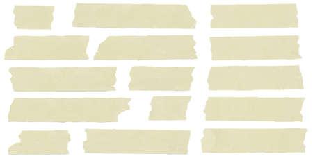 sticky notes: Set van horizontale en verschillende grootte plakband, lijm stukken
