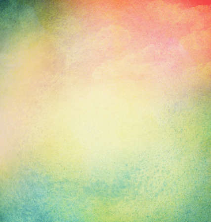 Abstract light colorful watercolor background with cloud. Spring, summer theme