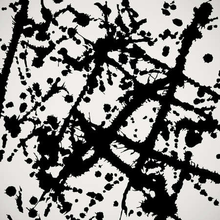 illsutration: Grunge black watercolor ink splashes background. Grungy vector illsutration