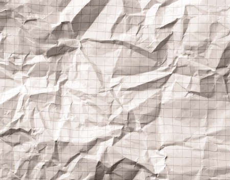 grid: Crumpled gray blank math, grid paper background