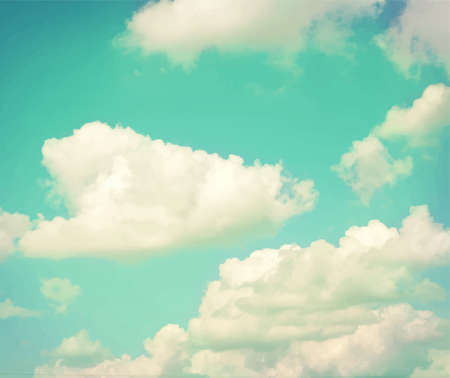 backgroud: Colorful vintage clouds and sky. Nature backgroud Illustration
