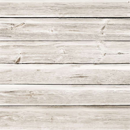 table surface: Light wooden texture with horizontal planks or table, floor surface. Vector illustration