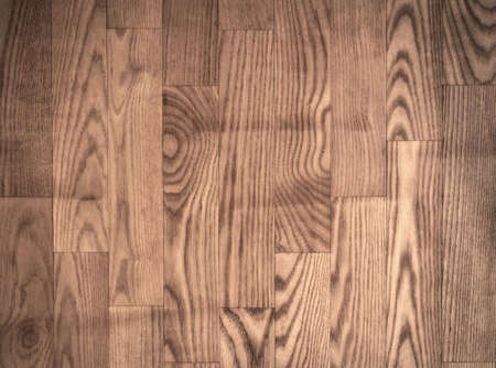 timber cutting: Brown parqueted floor, wooden texture with vertical planks Stock Photo