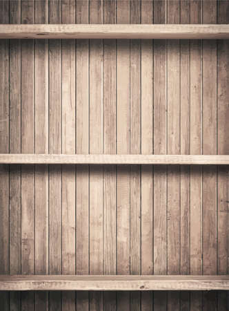 shelfs: Old brown wooden planks texture with shelfs.