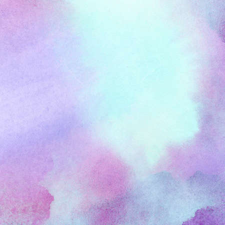 watercolour painting: Abstract purple blue painted watercolor splash, stain background