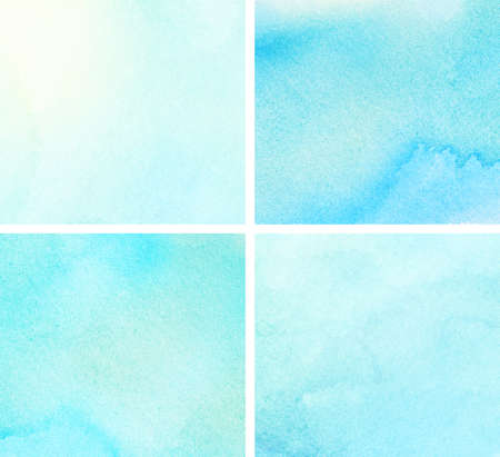 blue gradient: Set of blue watercolor gradient for your design