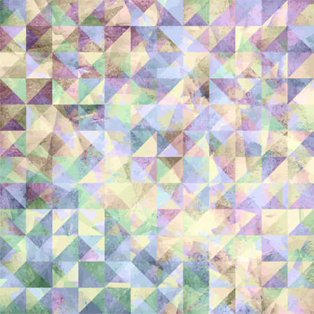 watercolor paper: Painted abstract geometric background from watercolor triangle on paper texture