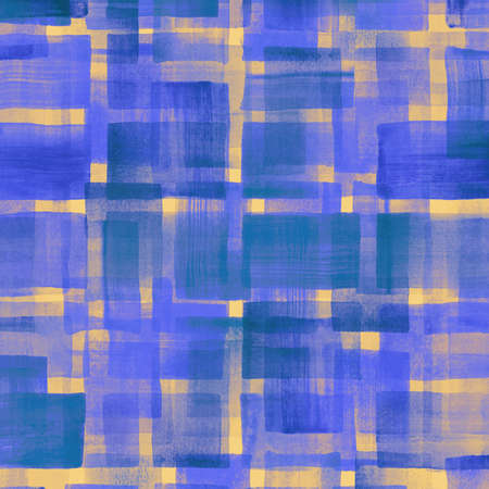 modern design: Pattern of colorful abstract geometric shapes. Watercolor background.