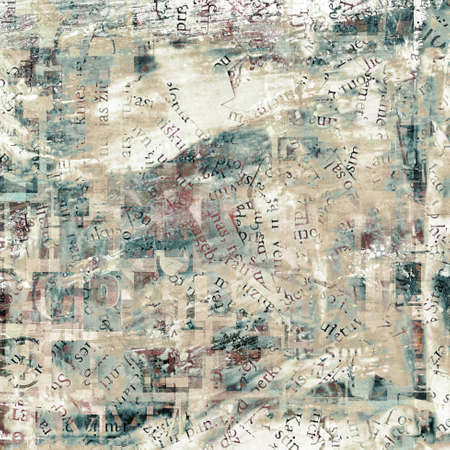 newspaper, magazine collage grunge background made of letters.