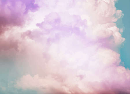 colourful sky: Colorful vintage clouds and sky. Nature backgroud.