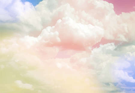 Colorful vintage clouds and sky. Nature backgroud.