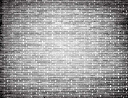 Grunge grey brick wall texture. Vector background Vettoriali