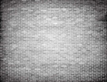 Grunge grey brick wall texture. Vector background Illustration