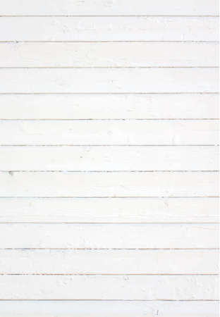 White painted wall fence floor table surface. Wooden texture. Vector illustration.