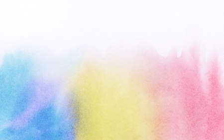 watercolour painting: Abstract colorful light painted watercolor background. Space for text.