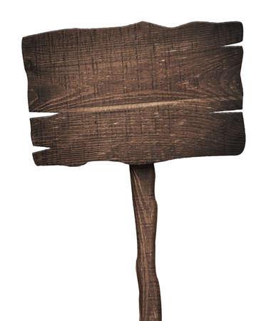 Oude verweerde houten bord geïsoleerd op wit Stockfoto - 44149604