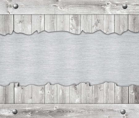 placa bacteriana: Composición de la placa de aluminio metal, placa de nombre y tablones de pared de madera.