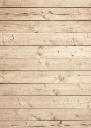 Light brown wooden texture with horizontal planks, table, desk or wall surface. 写真素材