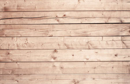 wooden boards: Light brown wooden texture with horizontal planks, table, desk or wall surface. Stock Photo