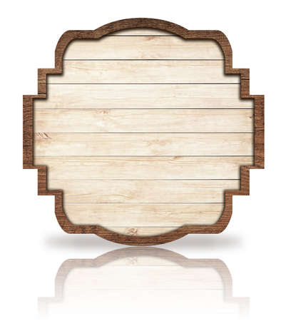 grecas: Marr�n Letrero adornado de madera, la reflexi�n en blanco, marco y ligeras tablones oscuros.